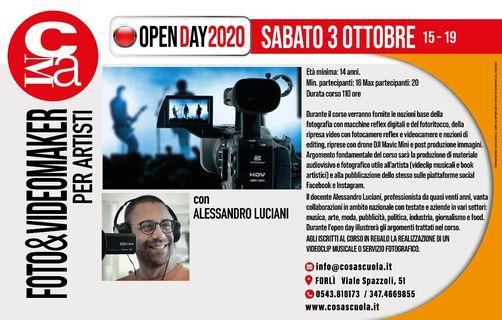 Open day VIDEO&FILM MAKER per ARTISTI @ Cosascuola Music Academy