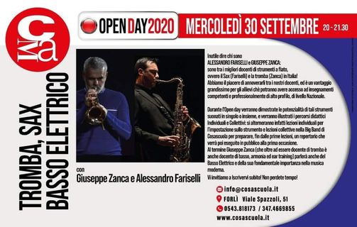 Open day Corsi di TROMBA, SAX e BASSO @ Cosascuola Music Academy