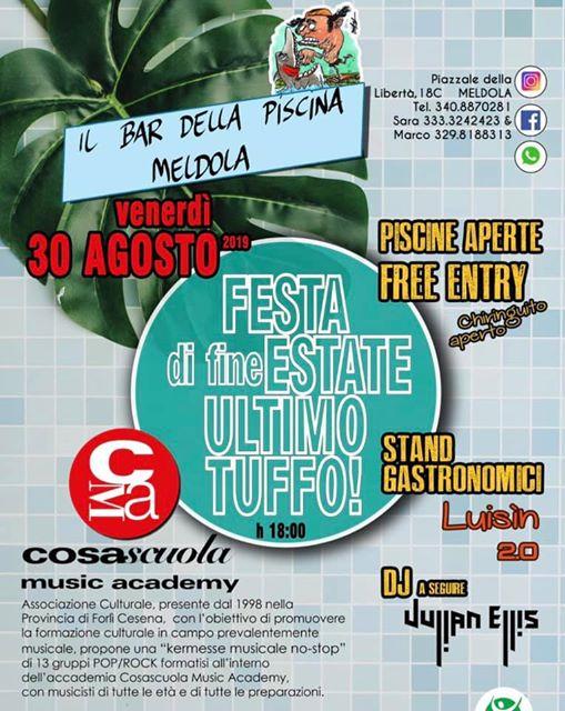 Festa di Fine Estate - Un Ultimo Tuffo @ Il Bar Della Piscina Meldola