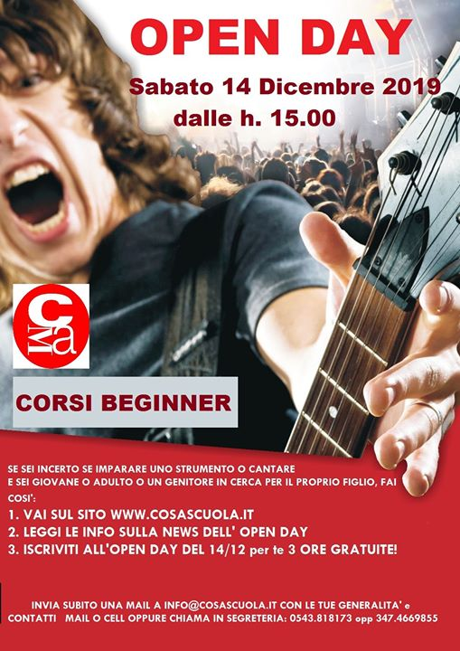 OPEN DAY - Cosascuola (Music Academy Forlì) @ Cosascuola Music Academy