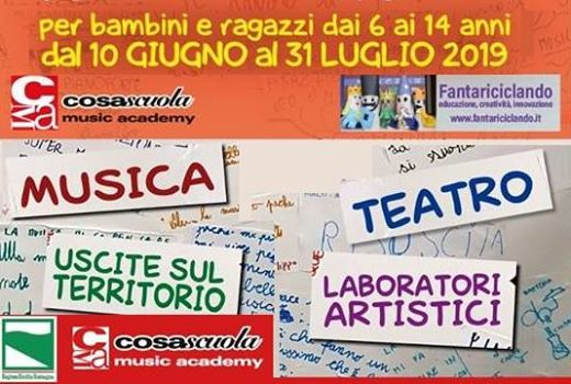 Centro estivo ad indirizzo artistico musicale Art Summer Camp 19 @ Cosascuola Music Academy