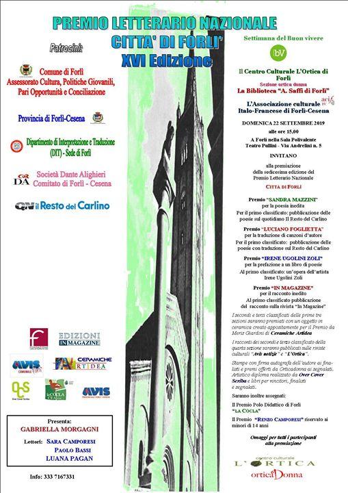 Premio Letterario Nazionale Città di forlì @  -